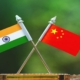 india-china flags