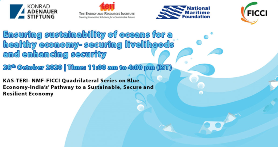 "Quadrilateral Diginar Series on Blue Economy-India's' Pathway to a Sustainable, Secure and Resilient Economy Second Diginar on ""Ensuring sustainability of oceans for a healthy economy- securing livelihoods and enhancing security"""
