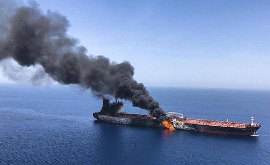 Hybrid Warfare- ship on fire