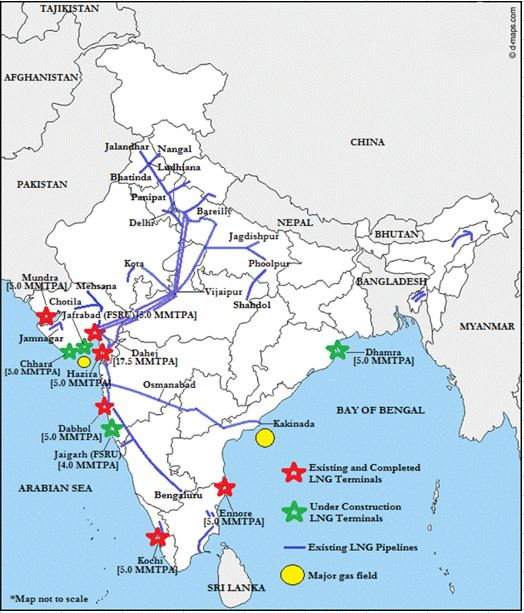 India's Gas based economy: LNG Infrastructure in India